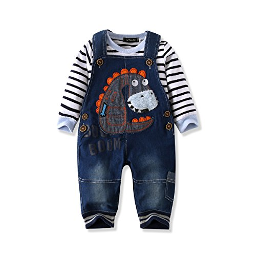 (LvYinLi US Baby Boy Clothes Boys' Romper Jumpsuit Overalls Stripe Rompers Sets (3-8 months, Blue 2))