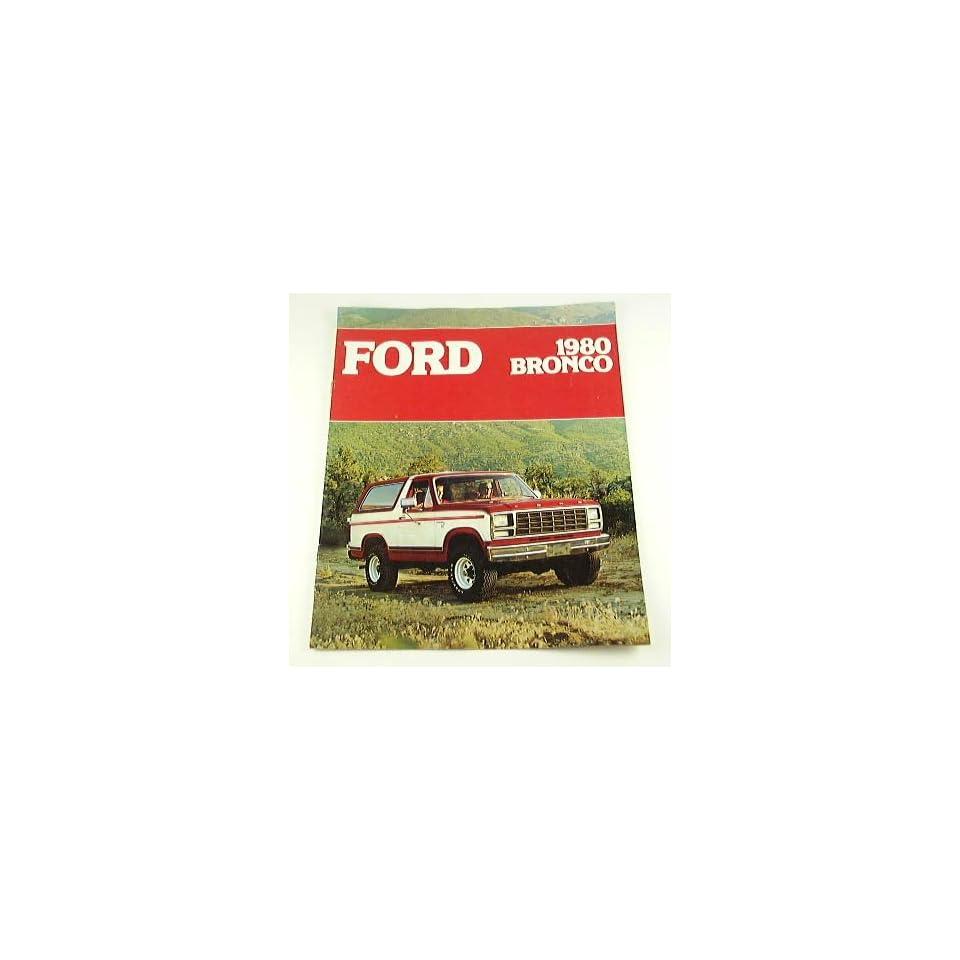 1980 80 Ford BRONCO Truck BROCHURE Ranger XLT Custom