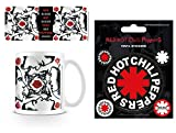 Set: Red Hot Chili Peppers, Blood Sugar Sex Magik Photo Coffee Mug (4x3 inches) And 1 Red Hot Chili Peppers, Sticker Adhesive Decal (5x4 inches)