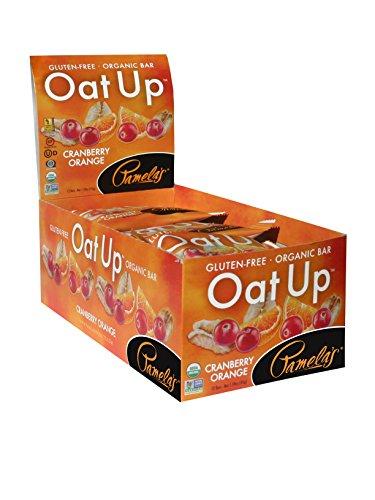 Pamelas Products Gluten Free Organic Oat Up Bar, Cranberry Orange, 12 Count