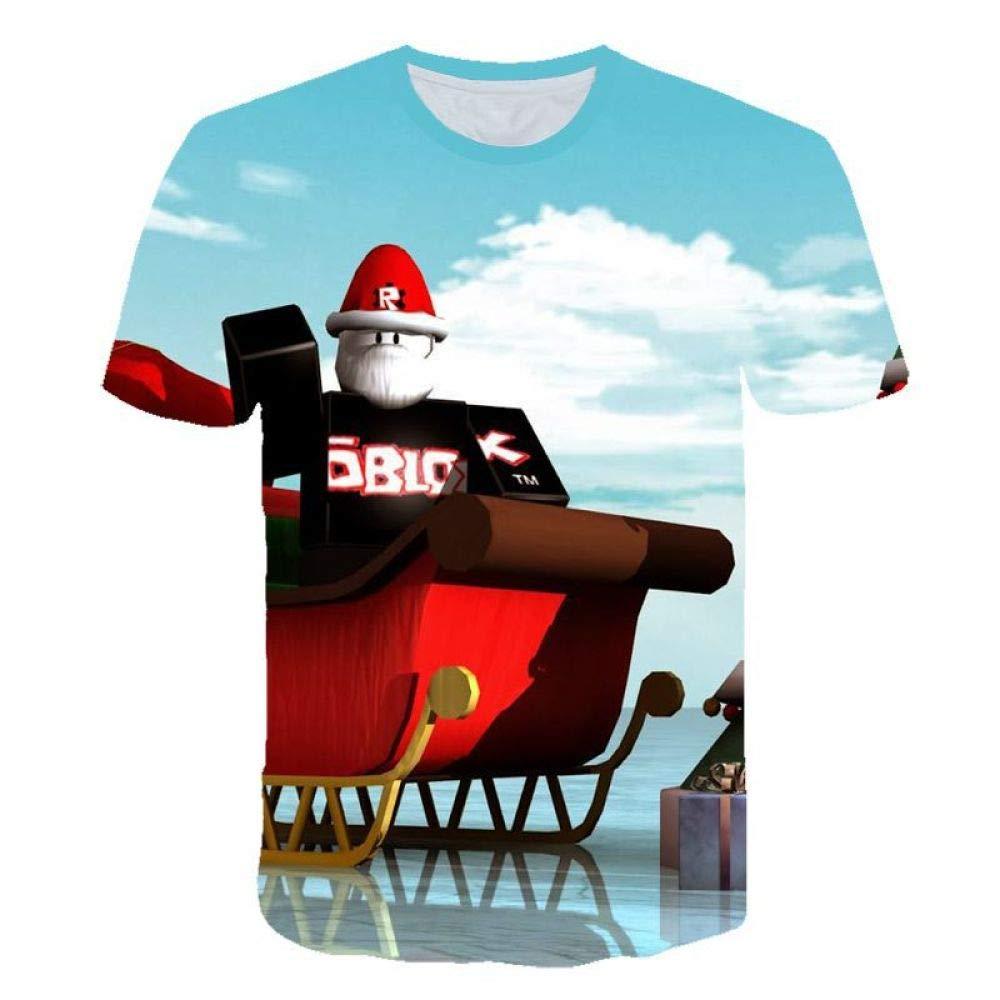 God Driver Camiseta Juego Niño Y Niña / / para Niños 3D Digital Impresión por Roblox Modelo Corto Manga Casual Parte Superior Y / A1 / 150