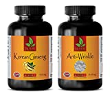 Product review for memory booster books - KOREAN GINSENG – ANTI - WRINKLE - COMBO - grape seed and resveratrol - 2 Bottles (60+60 Capsules)