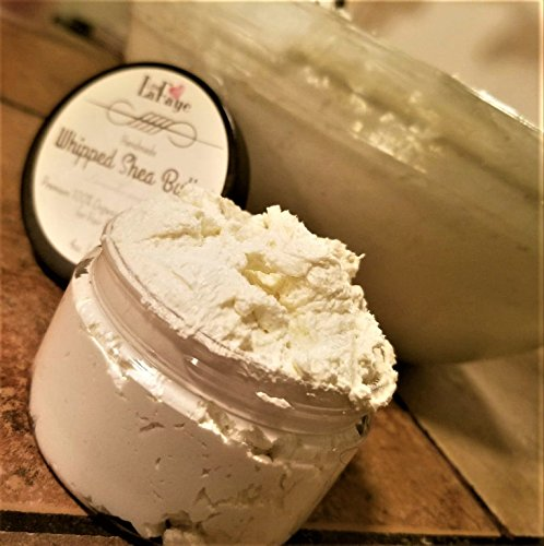 Whipped Butter Handmade Shea (Organic Whipped Shea+Cocoa Butter with all natural Virgin Oils, Aloe Vera & Raw Honey | Handmade Hair + Body Butter)