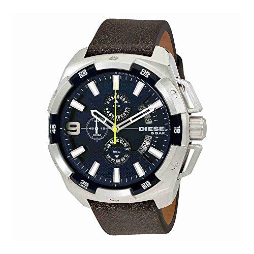 Diesel Men's DZ4418 Heavyweight Stainless Steel Brown Leather Watch
