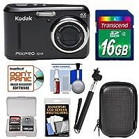 KODAK PIXPRO Friendly Zoom FZ43 Digital Camera with 16GB Card + Case + Selfie Stick + Kit