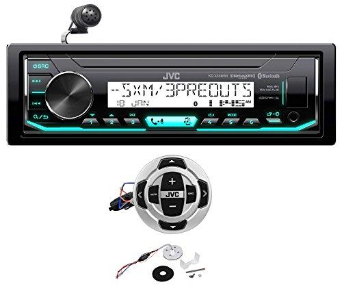 JVC KD-X35MBS Digital Media Marine Bluetooth Receiver iPhone/Sirius XM + Remote