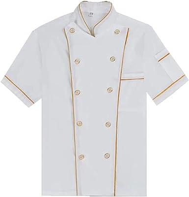 BOZEVON Uniforme del Chef - Uniforme de Trabajo del Chef de Repostería: Amazon.es: Ropa y accesorios