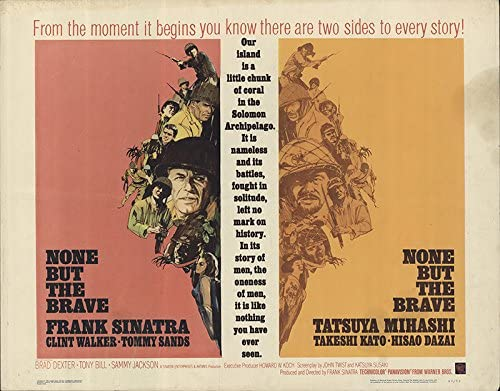 None but the brave Frank Sinatra vintage movie poster