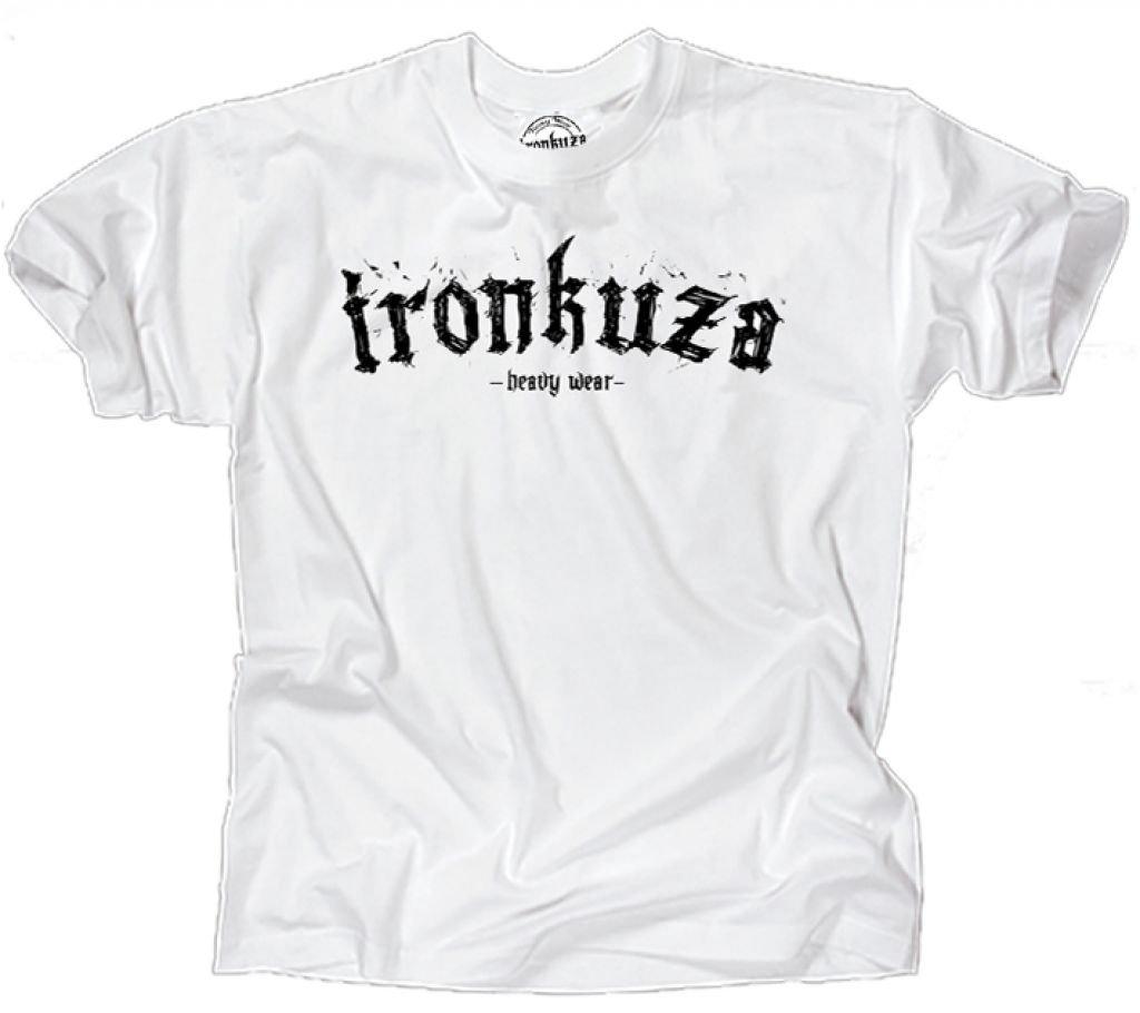 Ironkuza T-Shirt /'Train Hard or go Home/' weiss Fitness Bodybuilding Shirt