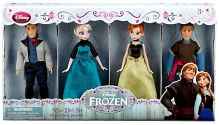 Disney Frozen Exclusive Mini Doll Set [Kristoff, Anna, Elsa, Hans] - Exclusive Doll Set