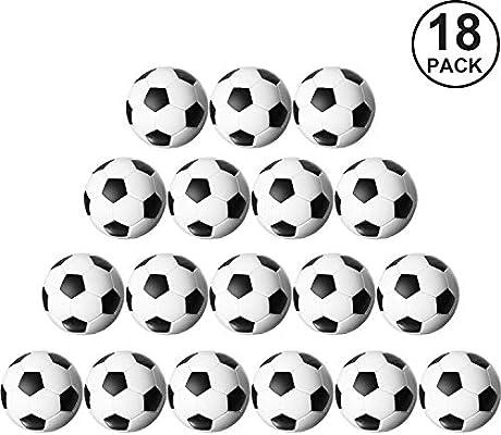 Gejoy 18 Paquetes Reemplazos de Futbolín Fútbol de Mesa Balones de Fútbol de Mesa en Blanco y Negro, 32mm: Amazon.es: Juguetes y juegos
