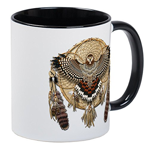 CafePress Red-Tail Hawk Dreamcatcher Mug Unique Coffee Mug, Coffee Cup