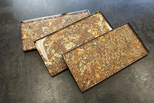 (TJHG-11 Golden Copper 3x6 Subway Tile Glass Mosaic Tile Backsplash Wall Tile (1 pc Sample))