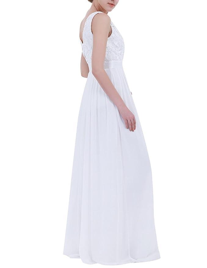 iiniim Mujer Vestido Largo Floreado de Fiesta Boda Dama de Honor de Novia Elegente Vestido Vintage Retro EEncaje Traje de Gasa para Mujeres Varias Tallas: ...