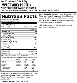 MyProtein Impact Whey - Proteína de Suero, Sabor Chocolate ...