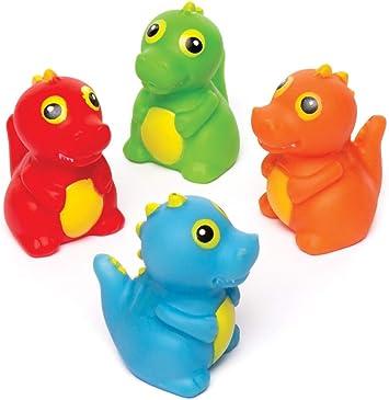 Baker Ross- Dinosaurios que lanzan agua (Pack de 4) Juguetes de ...