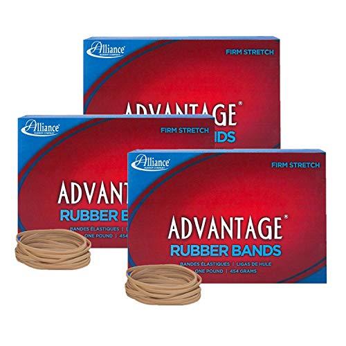 Alliance Advantage Rubber Band Size #33 (3 1/2 X 1/8 Inches), 1 Pound Box (Approximately 600 Bands per Pound) (26335), Set of 3 - Case Lb 1