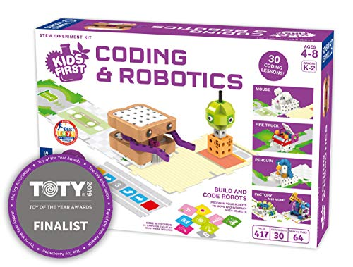 Thames & Kosmos Kids First Coding & Robotics | No App Needed | Grades K-2 | Intro to Sequences, Loops, Functions, Conditions, Events, Algorithms, Variables | Parents' Choice Gold Award - Parents Award Gold Choice