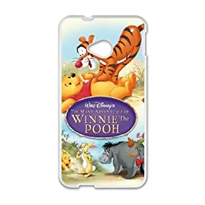 HTC One M7 Cell Phone Case Covers White Many Adventures of Winnie the Pooh NTUHEPB02155 3D Plastic Cell Phone Case