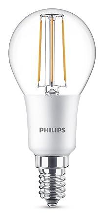 Philips Gota Bombilla LED esférica Retro/filamento E14, luz Blanca cálida, 40 W