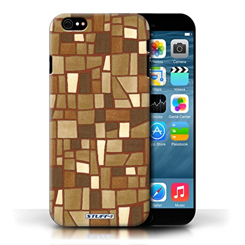 Etui / Coque pour Apple iPhone 6/6S / Brun/Blanc conception / Collection de Carrelage Mosaïque