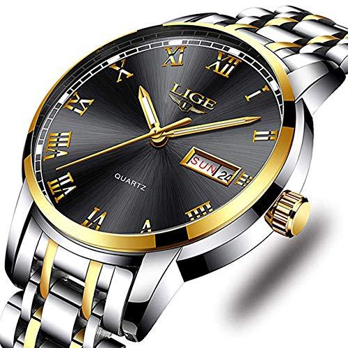 Watches Men Fashion Sport Waterproof Analog Quartz Wristwatch Men Luxury Brand LIGE...