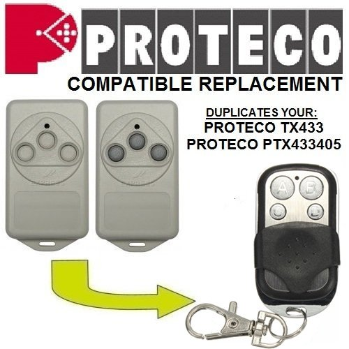 Price comparison product image Proteco HIT | TX3 | TX433 | PTX433 405 Compatible Gate Opener Motor Remote Control Replacement Keychain - RF Universal 433.92 Mhz Transmitter Key Fob | Fix Code Clone
