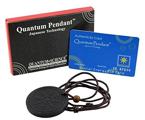 Quantum Science Black Pendant Japanese Technology Necklace by DivineTM