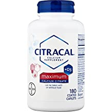 Citracal Maximum Caplets with Vitamin D3, 180-Count Bottle (Packaging May Vary)