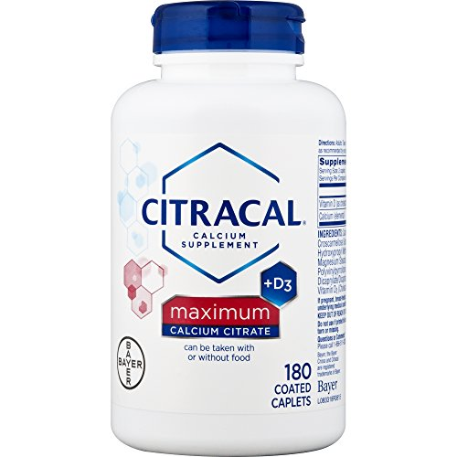 Citracal Maximum, Highly Soluble, Easily Digested, 630 mg Calcium Citrate With 500 IU Vitamin D3, Bone Health Supplement for Adults, Caplets, 180 Count - Maximum Caplets