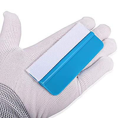 Gomake 10 Pack Mini Vinyl Wrap Tools Felt Edge Squeegee Scratch Free for Auto Vinyl Wraps Application Tool Tint Film Wallpaper Tool Blue: Automotive