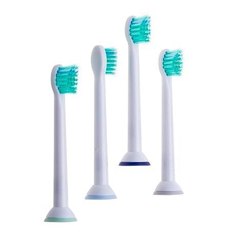 JZK® 4 x sensibles eléctrico dientes cepillo cabezales recambio HX6024 para Philips Sonicare Pro Results