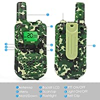 Walkie Talkies for Kids, Toys for 3 4 5 6 7 8 9 Year Old Boys 22 Channel 3 Miles FRS/GMRS Built in Flash Light 2 Way Radio Gifts for 3 4 5 6 7 8 9 Year Old Girls Kids Walkie Talkies Christmas Gifts from instecho