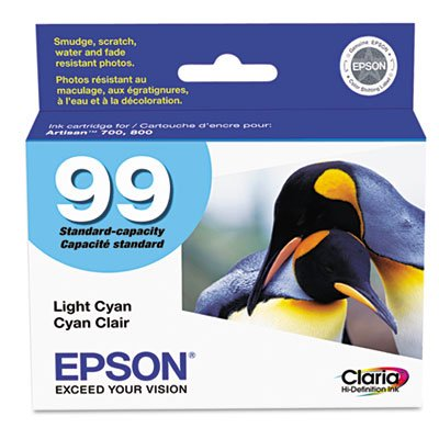 Epson America Inc. Products - Ink Cartridge, 500 Page Yield, Light Cyan - Sold as 1 EA - Ink cartridge is designed for use with Epson Artisan 700 and 800. Claria Hi-Definition Ink delivers long-lasting photos that are smudge-resistant, scratch-resistant, water-resistant and fade-resistant. from Epson