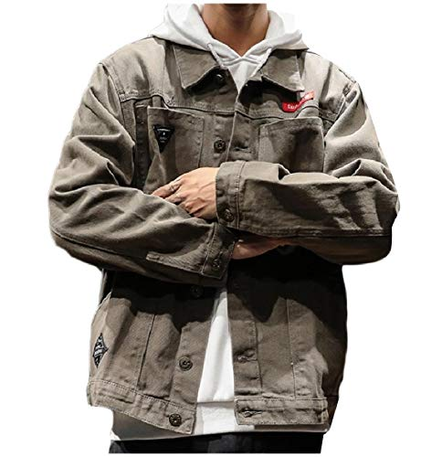 Denim Relaxed Coat Camouflage Slim Grey Color Fit Men Jacket Casual XINHEO wZ0qxafnXX