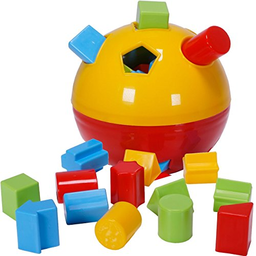Ciftoys Educational Shape Sorter Ball Kids Toys   Develop Fine Motor Skills  Have Fun  Learn About Shapes   Colors  Red Yellow
