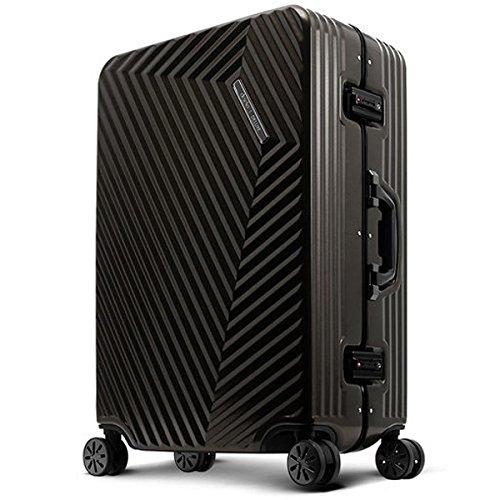 旅のセレクトショップ!DESENO SORT スーツケース 黒 Sサイズ 軽量 アルミフレーム TSAロック搭載 機内持ち込み可 出張 修学旅行 小型 小旅行   B07BF8LK3N
