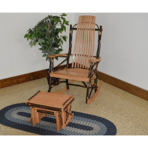 A&L Furniture Co.Hickory 9-Slat Rocking Chair with Glidin...