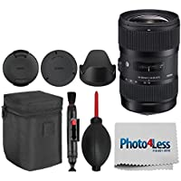 Sigma 18-35mm f/1.8 DC HSM Art Lens for Nikon F Cameras + Lens Cleaning Pen + Lens Blower + Cleaning Cloth + Top Value Basic Accessory Bundle