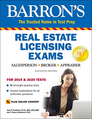 Barron's Real Estate Licensing Exams with Online Digital Flashcards (Barron's Test Prep) (California Real Estate Broker Exam Study Guide)