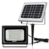 CLY 60 LED Solar Lights, Outdoor Security Floodlight, 300 Lumen, IP66 Waterproof, Auto-induction,...