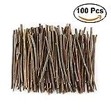 #4: TKOnline 100Pcs 10cm 0.1-0.2 Inch in Diameter Wood Log Sticks for DIY Crafts Photo Props