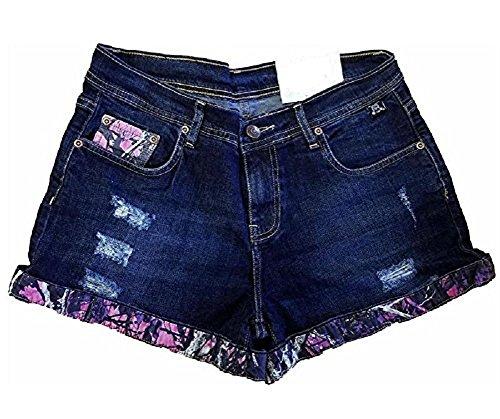 Moonshine Muddy Girl Camo Denim Blue Jean Western Shorts Purple Pink