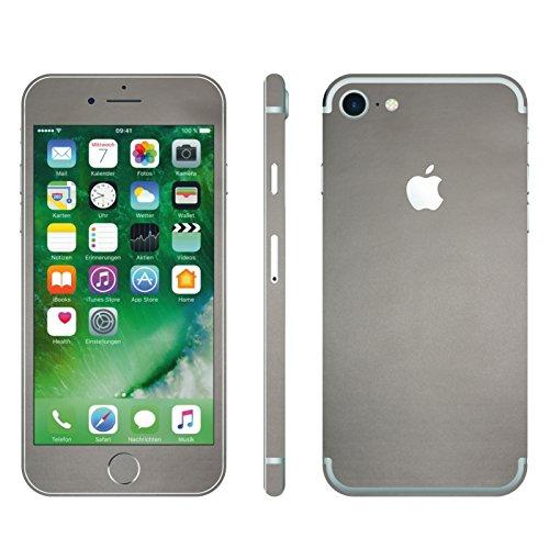 IPHONE 7 SILBER GRAU MATT FOLIE SKIN ZUM AUFKLEBEN bumper case cover schutzhülle i phone