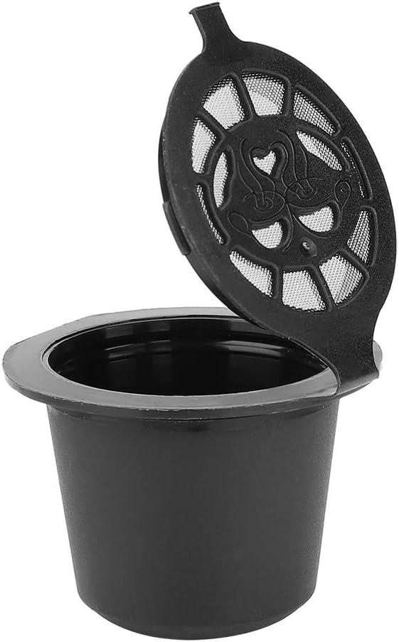Regun Capsules de caf/é Rechargeables r/éutilisables 5 pi/èces//Ensemble Capsules de caf/é Rechargeables r/éutilisables dosettes Filtre Tasses passoire avec Brosse /à cuill/ère