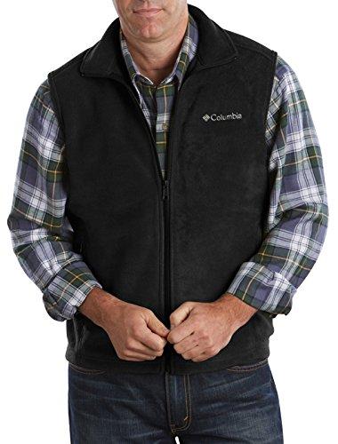 Columbia Men's Big & Tall Cathedral Peak II Fleece Vest, Black, 3X/Tall