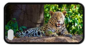 Hipster funny iPhone 4S covers jaguar forest TPU Black for Apple iPhone 4/4S