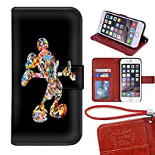 Onelee(TM) - Customized Disney Mickey Mouse Apple iPhone 6 TPU Case Cover - Black 08