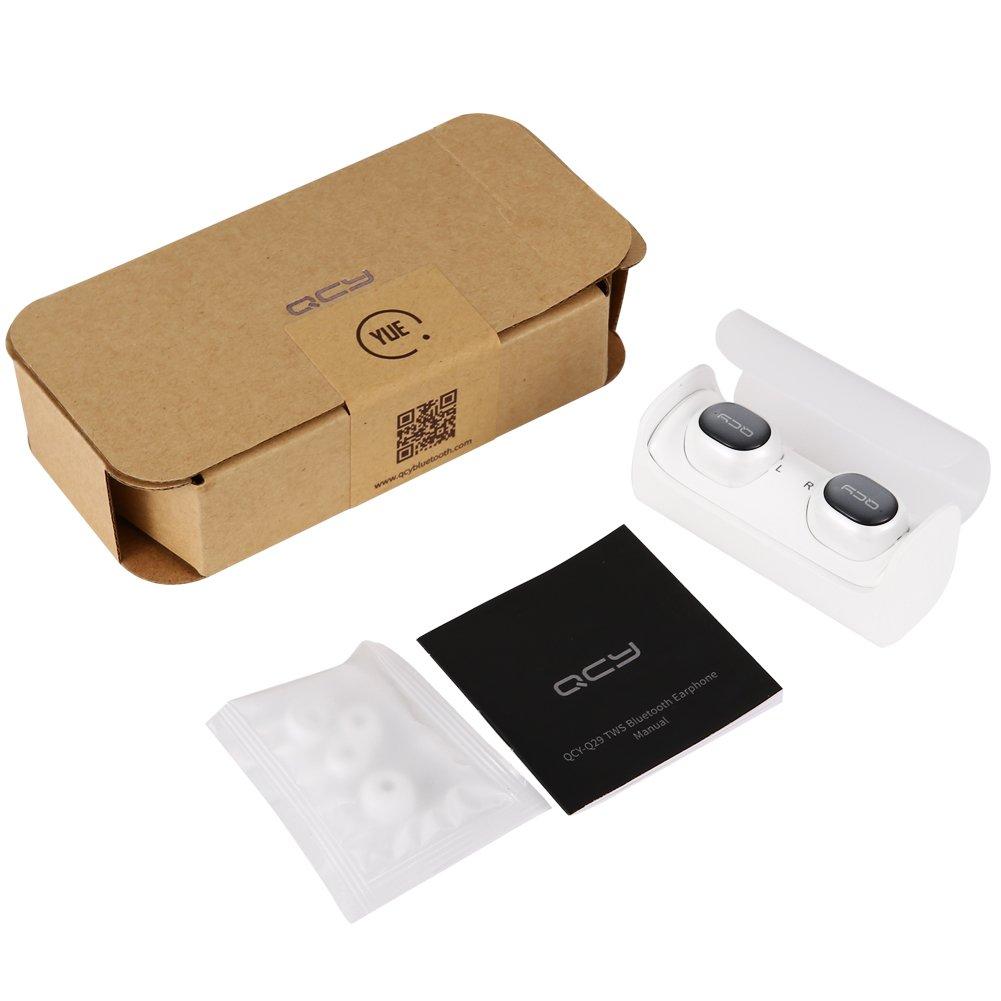 Bluetooth auriculares por zantec, qcy-q29 TWS auriculares Bluetooth, auriculares inalámbricos estéreo de 2, apoyo función de micrófono, 1 carga caso por: ...