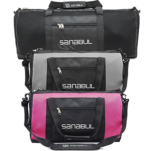 Sanabul Mesh Gym Bag (Jet Black, Oversize)